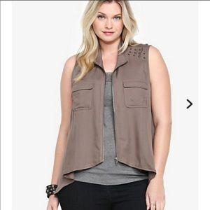 Torrid Military Vest